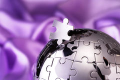 Globe puzzle Royalty Free Stock Photography