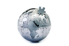 Globe puzzle Stock Images
