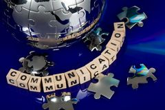 Globe puzzle with CD Stock Photo