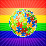 Globe Puzzle for gay Rights Royalty Free Stock Photo