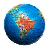 Globe puzzle isolated. Map of South America. Brazil. Globe puzzle isolated on white. Map of South America. Brazil stock photo