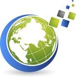 Globe puzzle logo Royalty Free Stock Photos