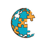 Globe puzzle pieces image Royalty Free Stock Image