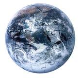 Globe puzzle on white background Stock Image