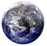 Globe puzzle on white background Royalty Free Stock Photos