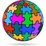 Globe puzzle on white background Royalty Free Stock Photography