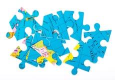 Globe puzzles Royalty Free Stock Photography