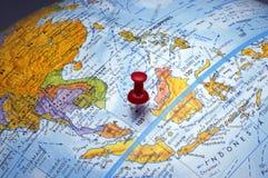 Globe (région de l'Asie) Photographie stock libre de droits