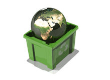 Globe in recycle Stock Photos