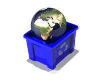 Globe in recycle Stock Photography