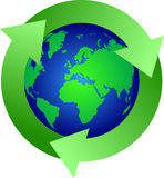 Globe recycling icon Stock Image