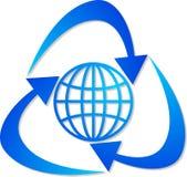 Globe recycling logo Stock Image