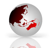 Globe red and gray Royalty Free Stock Images
