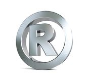 Globe registered trademark sign 3d Illustrations. On a white background Royalty Free Stock Photo