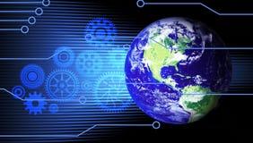 Globe reli? Google du monde de technologie illustration libre de droits