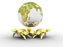 Globe restant sur des tortues Image stock