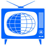 Globe in the retro TV Stock Photos