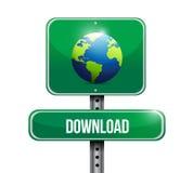 Globe road sign illustration design Royalty Free Stock Images