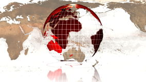 Globe rotating LOOP Royalty Free Stock Photo