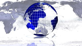 Globe rotating LOOP Royalty Free Stock Images