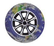 Globe-roue Images libres de droits