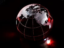 Globe rouge Image stock