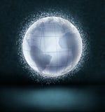 Globe rougeoyant Images libres de droits