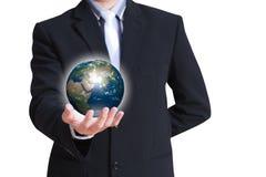 Globe rougeoyant de la terre Photos stock