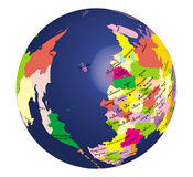 The globe of russia. The globe of the Russian territories Royalty Free Stock Photography