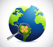 Globe safety concept illustration Stock Photography