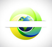 Globe save earth pocket illustration design Stock Photography