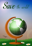 Globe for save the world Royalty Free Stock Photos