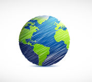 globe scribble illustration design Stock Photos