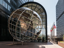 Globe sculpture in front of Willis Tower, Chicago Stock Photos