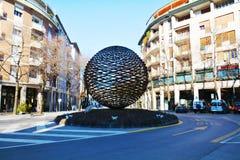 Globe sculpture in Treviso, Veneto, Italy Stock Image