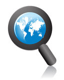 Globe search Royalty Free Stock Images