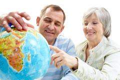 Globe search Stock Image