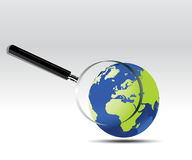 Globe Searching Royalty Free Stock Photos