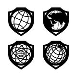 Globe security set Royalty Free Stock Images