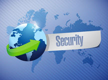 Globe security sign illustration design Royalty Free Stock Images