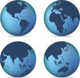 Globe set Royalty Free Stock Image