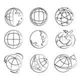 Globe set Stock Images