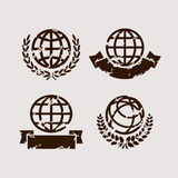 Globe set. Vector. Icons, collection, isolated Stock Photo