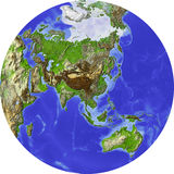 Globe, shaded relief Stock Image