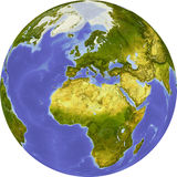 Globe, shaded relief Stock Photo