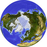 Globe, shaded relief Royalty Free Stock Images