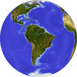 Globe, shaded relief Stock Photos