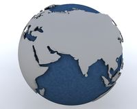 Globe showing middle east region Stock Images