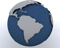 Globe showing south america region Stock Image