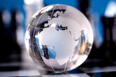 Globe showing the world Stock Image